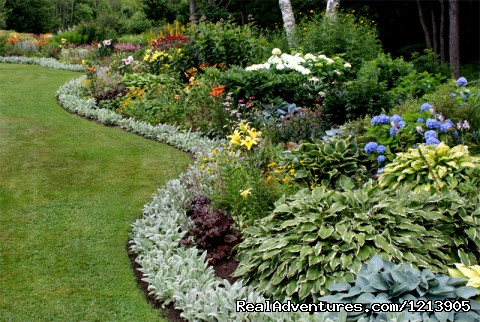 Eden-like gardens at Cedarholm Garden Bay Inn - Camden ME Oceanfront B&B Romantic Hideaway Inn