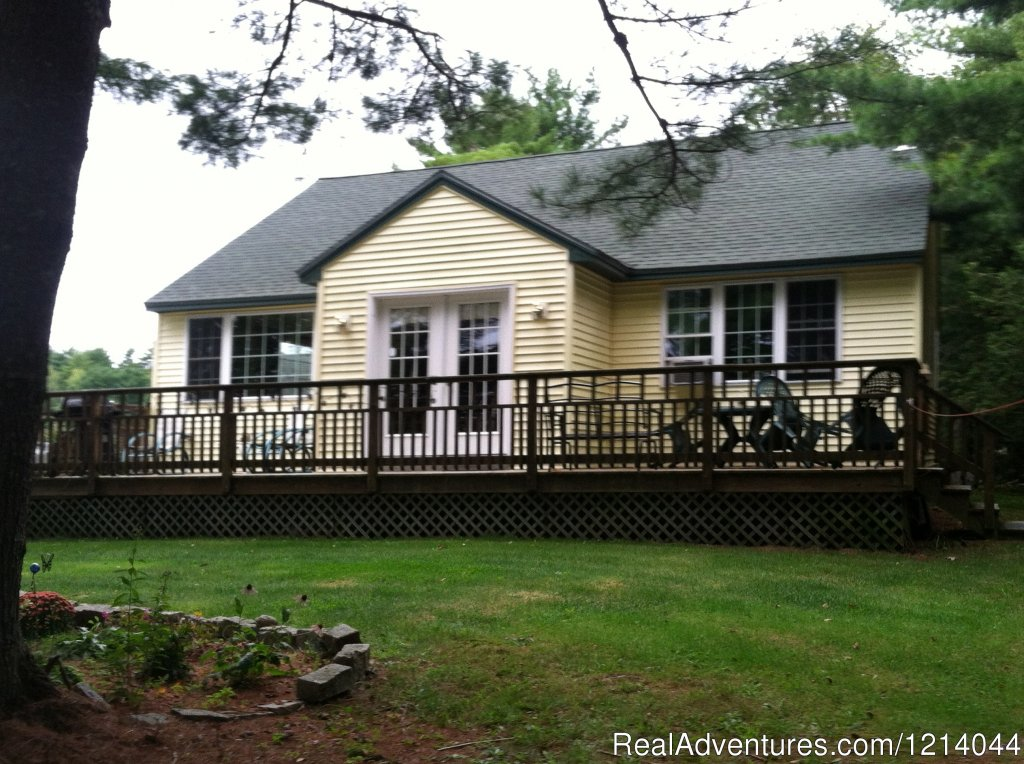 Modern, quiet two bedroom cottage, everything you need but the groceries. Located 6 miles from Ellsworth,28 miles from Bar Harbor.Deck for sunning and a grill. Inside there is Direct tv, vcr/dvd, dishwasher and washing machine Weekly rate available