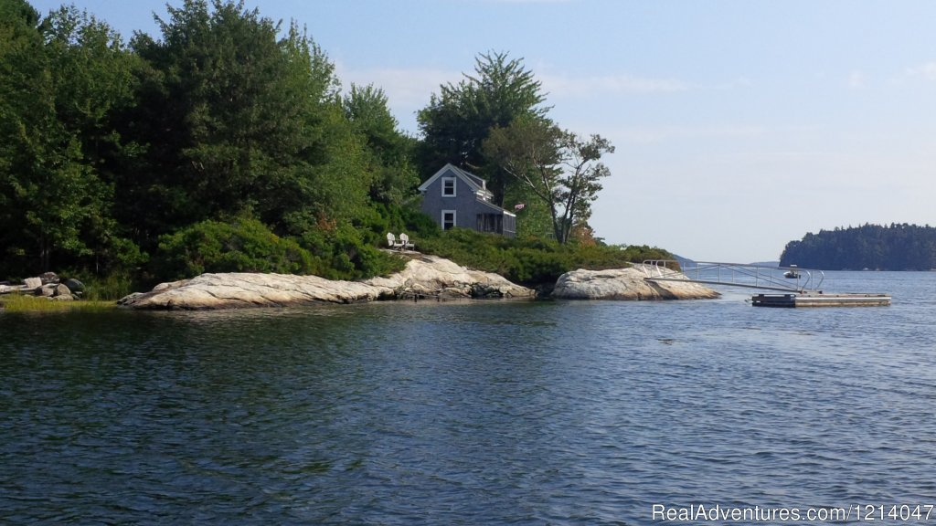 White Rocks from Water Looking South | Image #2/26 | Maine Coast Vacations Scenic White Rocks Cottage