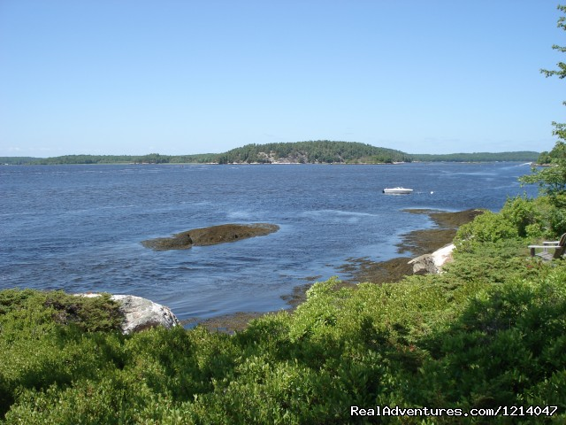 View from Deck - Maine Coast Vacations Scenic White Rocks Cottage