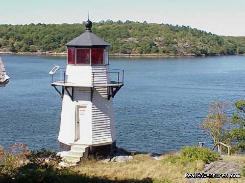 Perkins Island Light - Maine Coast Vacations Scenic White Rocks Cottage