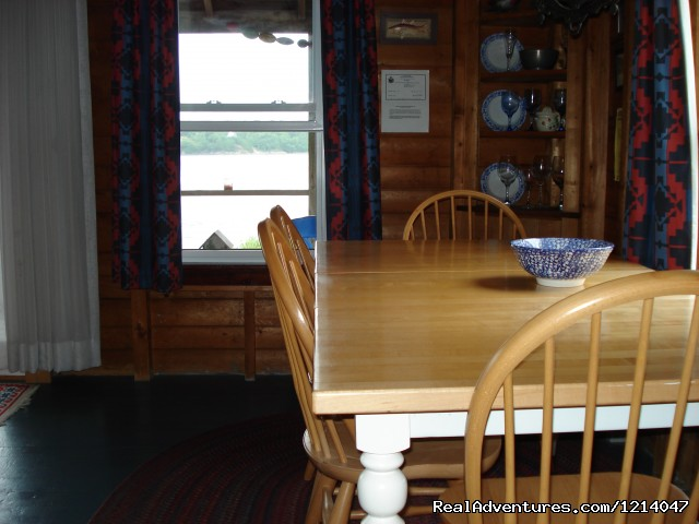 White Rocks Dining Room - Maine Coast Vacations Scenic White Rocks Cottage