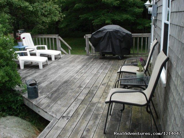 White Rocks Deck - Maine Coast Vacations Scenic White Rocks Cottage