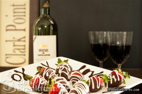 Decadent Dark & White Chocolate Strawberries - Clark Point Inn - A Relaxing Encounter By The Sea