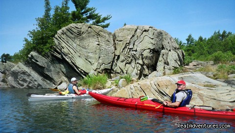 Incredible and interesting rock formations are found everyw - Georgian Bay 30,000 Island Kayak Adventures