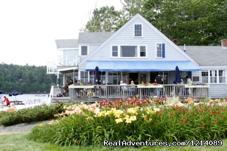 West Lodge and Deck Bar - New England's Only All-Inclusive Sailing Resort