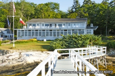 Main Lodge and Dining Room - New England's Only All-Inclusive Sailing Resort
