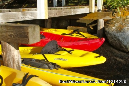 Kayaks Await at the Main Dock (#7 of 16) - New England's Only All-Inclusive Sailing Resort