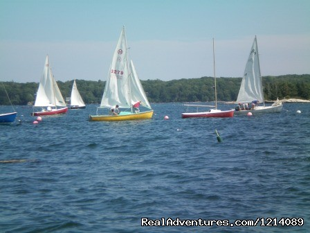 Thursday's Regatta Underway - New England's Only All-Inclusive Sailing Resort