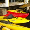Kayaks Await at the Main Dock