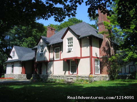 Tudor Style building with hotel rooms - Franciscan Guest House