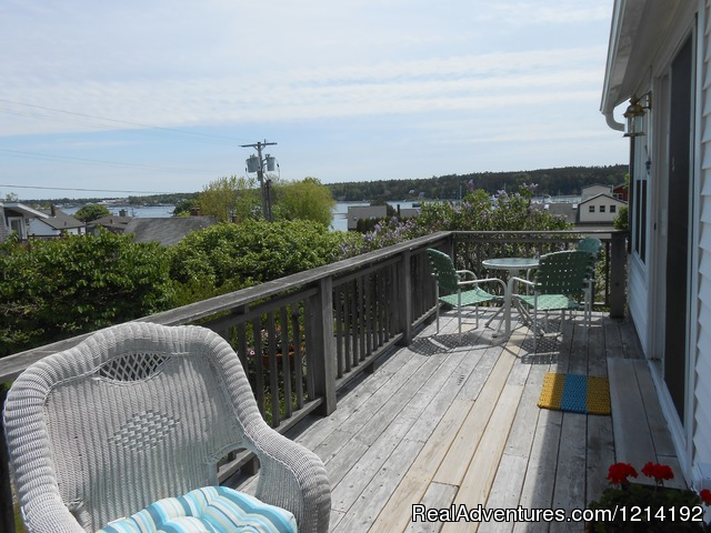 Harbor View Private deck - Cranberry Hill Inn, Luxury suites on the harbor