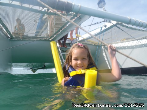All ages can swim and snorkel - Sail, snorkel, shine, relax aboard the Katarina