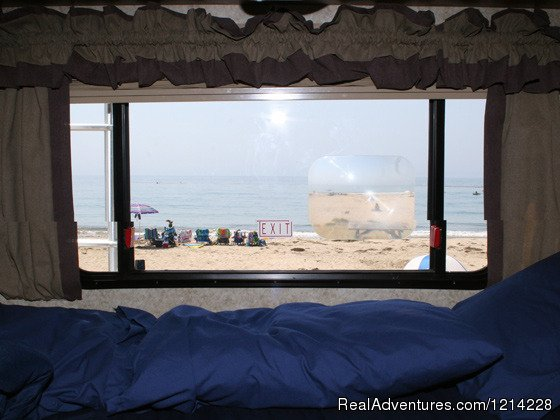 View from Motorhome Rental Sleeping Area | Image #13/25 | Alaska RV Rentals | Anchorage Motorhome Rentals