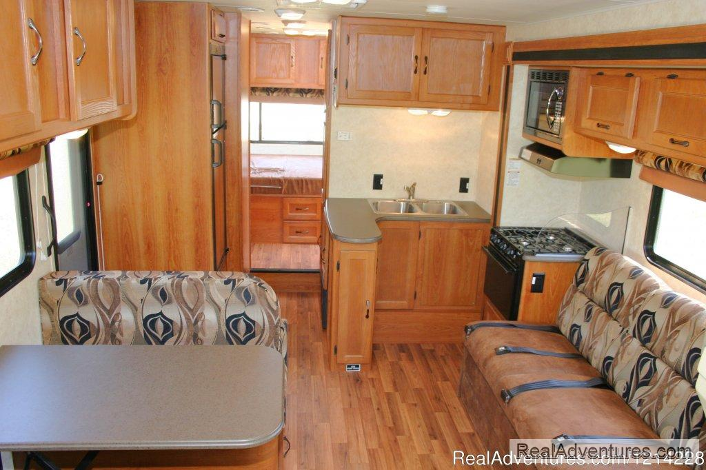 Anchorage Motorhome Rental: Cooking and Dining Area | Image #22/25 | Alaska RV Rentals | Anchorage Motorhome Rentals