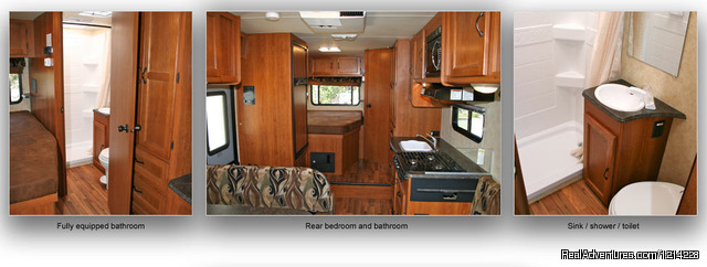 Motorhome Rental Floor Plan - Alaska RV Rentals | Anchorage Motorhome Rentals