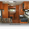 Motorhome Interior View: Fully Equipped Bathrooms and Beds