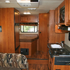 RV Rental Interior: Cooking Area and Bedroom