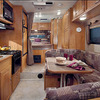 Anchorage RV Rental Interior: Dining, Cooking, and Bedroom