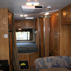 RV Rental Interior: Bedroom Area with Plenty of Storage