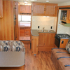 Anchorage Motorhome Rental: Cooking and Dining Area