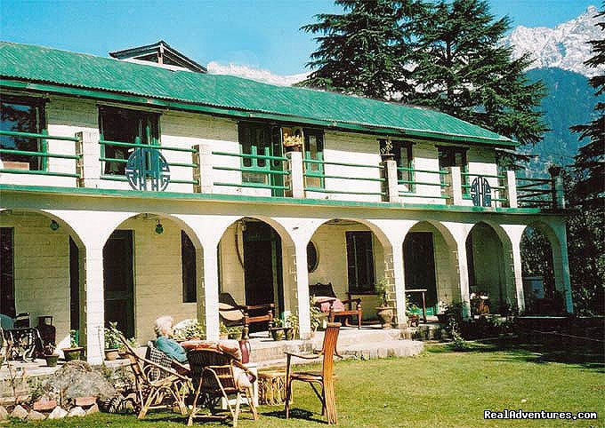 Fabulous 2sqk Himalaya Mountain resort, above Dharamsala, Northern India - above HH The Dalai Lama's temple.  Luxurious rooms with silks and artworks, plus only hotel with Central Heating in the region. Horse-riding, badminton, nature treks.