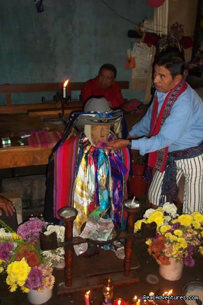 Maximon Mayan Alive culture in Guatemala