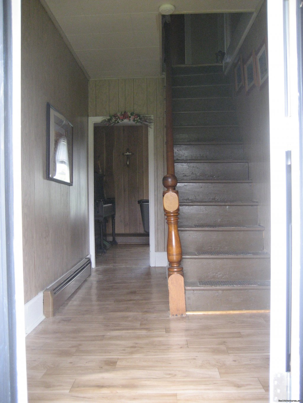 Front door  going up stairs | Image #3/21 | Farmhouse Vacation Rental in Cape Breton