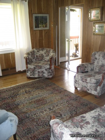 Living Room - Farmhouse Vacation Rental in Cape Breton