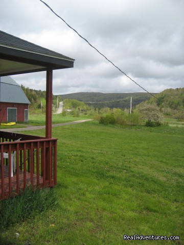 View from side of house - Farmhouse Vacation Rental in Cape Breton