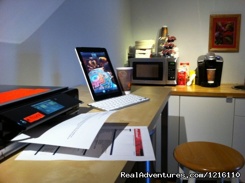 NEW - Print Cafe with AirPrint printer (#8 of 8) - StayON Beverly Hostel  - luxury Private rooms