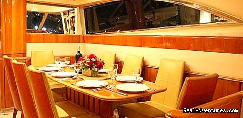 Dining Room - Romantic Weekend Getaway aboard a Luxury Yacht