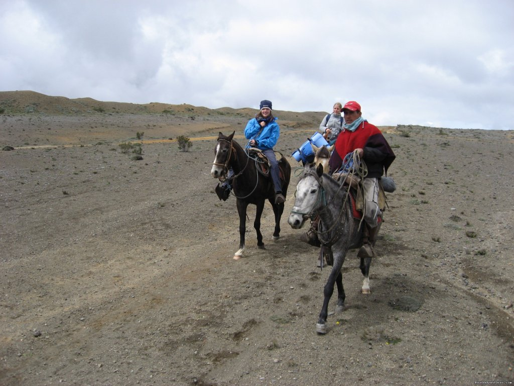 Saddle up and ride round the rocky lunar landscapes of the Ecuadorian Andes. We start horseback riding in the shadow of the volcano Chimborazo 6310m (20,565 ft) and ride through remote indigenous villages for two days and stay the night in Salinas.