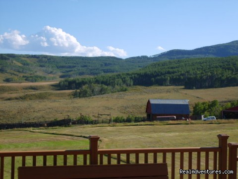 View from the deck  - Colorado - Ranch Weddings and Family Reunions
