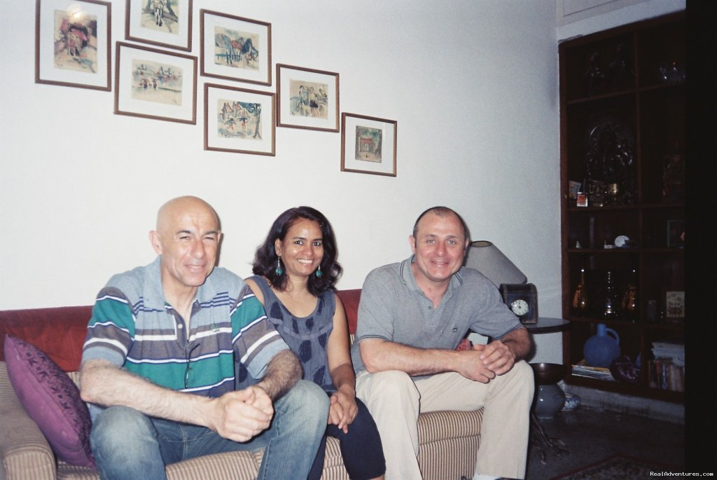 Mario Gervasi & Oliver from France | Image #5/10 | A great Home stay in New Delhi at Mayas Nest A B&B