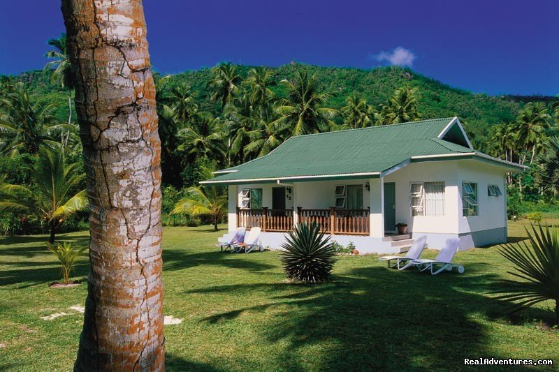 Seychelles Self Catering Beach Bungalows on secluded beach on the South East Coast of Mahe Seychelles. All bungalows are a step from the Indian Ocean and are nested in a tropical garden providing you with a perfect Seychelles getaway.