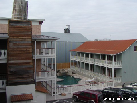 Exterior view from third floor - Village at Gruene Condos in Historic Gruene