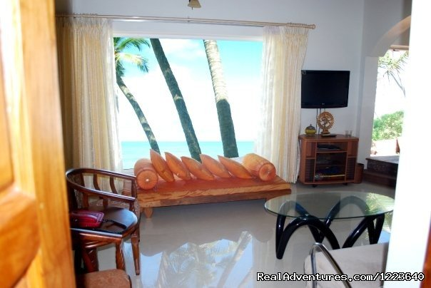 A view of the sea from the living room | Image #8/20 | Ocean Hues Beach House - Seaside Holiday in Kerala