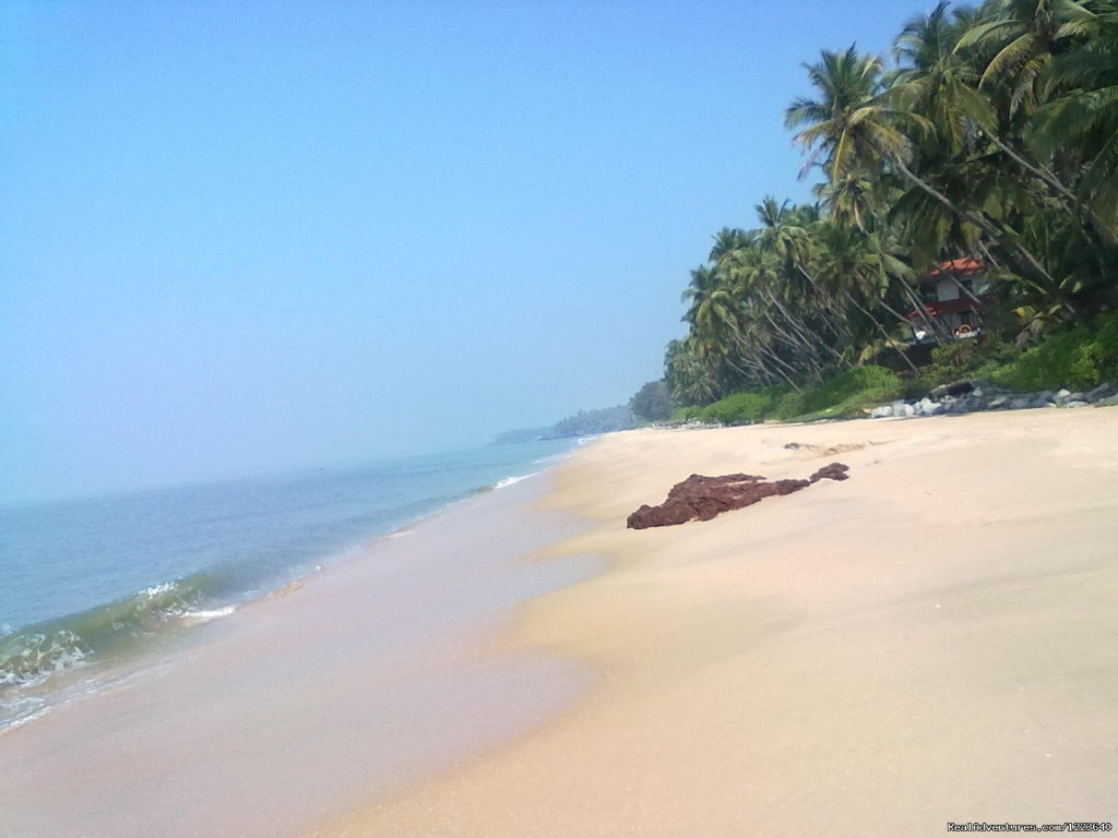The clean, uncrowded sandy beach just in front of Ocean Hues | Image #18/20 | Ocean Hues Beach House - Seaside Holiday in Kerala
