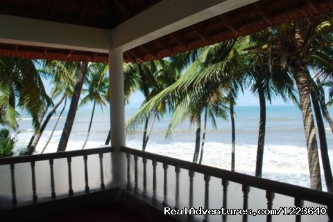 A view from the balcony of the bedroom - Ocean Hues Beach House - Seaside Holiday in Kerala