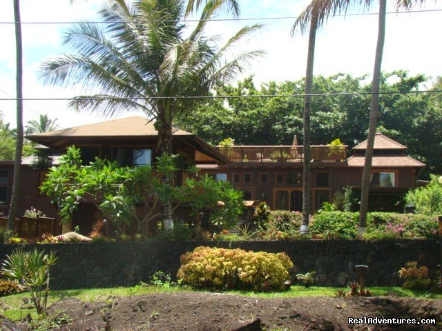 Unwind at this Oceanfront  Romantic 2 story Private Balinese Guest House, surrounded in the natural ambiance of Kehena Beach Estates.  This Jewel of the Big Island of Hawaii is tucked alongside the South East Puna coastline.