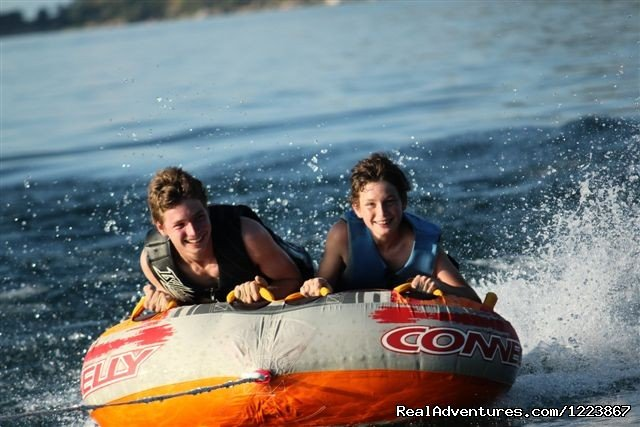 Boys tubing, Lake Malawi | Image #10/23 | Malawian Style - Safari, Mountain, Lake Adventures