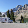 Motorhome in Lake Louise Campground