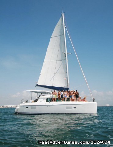 catamaran rent isla contoy - Luxury Yacht Charter Cancun Riviera Maya Mexico
