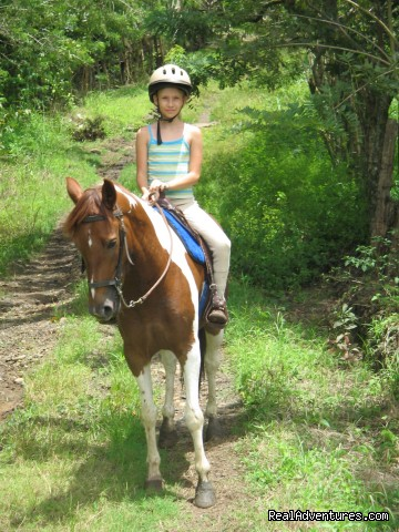 Olivia and Lluvia - We cater to families that love to ride horses.
