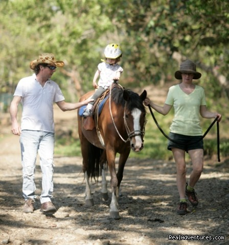 Pony ride.  - We cater to families that love to ride horses.