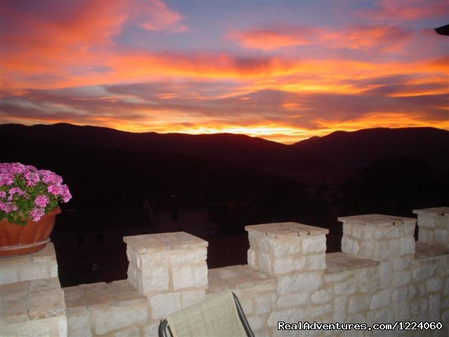 Terrace sunset - Corte Belvoir Guest House & Romantic Inn