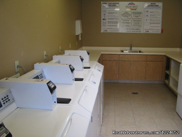 One of 3 laundry rooms - Flag City RV Resort