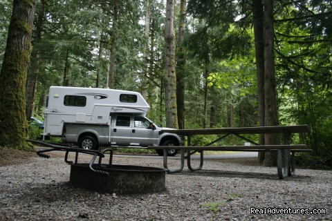 Truck Camper at Campsite - CanaDream RV Rentals & Sales - Toronto