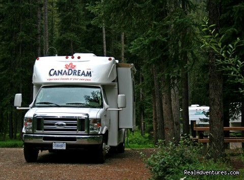 SVC at Campsite - CanaDream RV Rentals & Sales - Toronto